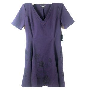 Simply Vera Wang Fit & Flare Embroider Dress S NWT